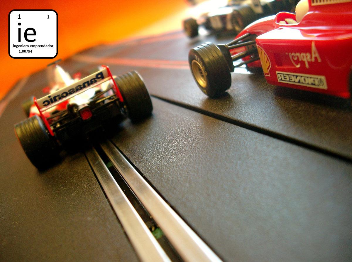 Jugar al scalextric con coches de hidrógeno